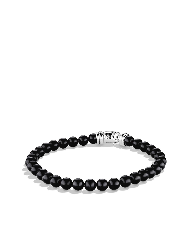 Men's Spiritual Beads Bracelet with Black Onyx