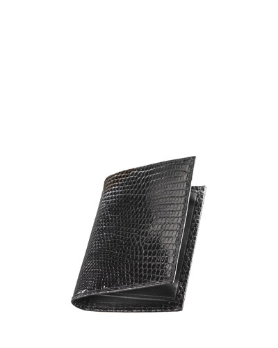 Lizard Business Card Case, Black