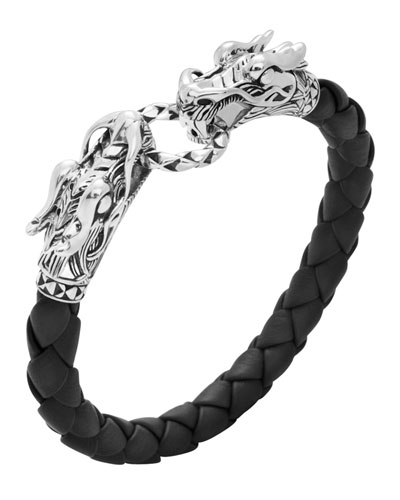 Men's Legends Naga Leather Dragon Bracelet