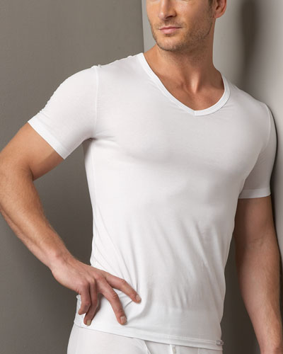 Cotton Sensation V-Neck Tee