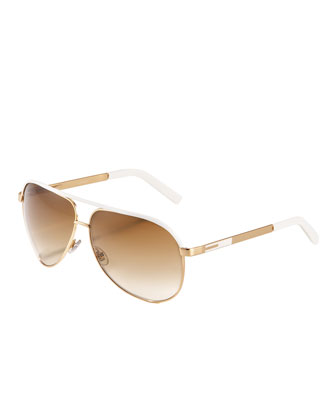 White And Gold Sunglasses 55