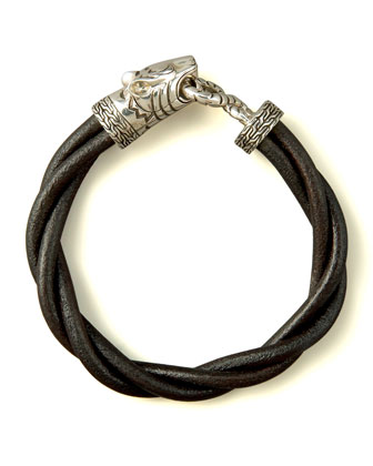 Macan Twisted Leather Bracelet