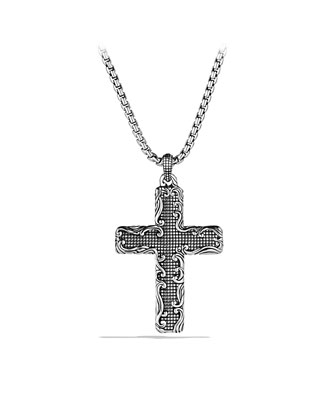 Waves Cross Necklace, 22