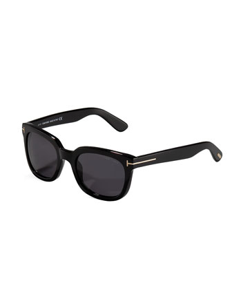 Campbell Plastic Sunglasses, Black