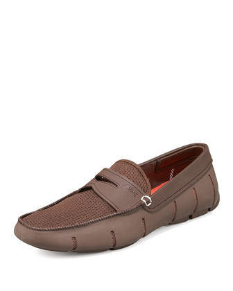 Rubber Penny Loafer, Brown