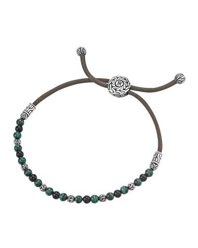 Onyx & Malachite Cord Bracelet