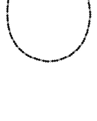 Mini Black Onyx Bead Necklace