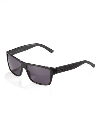 Diamante Plastic Sunglasses, Black