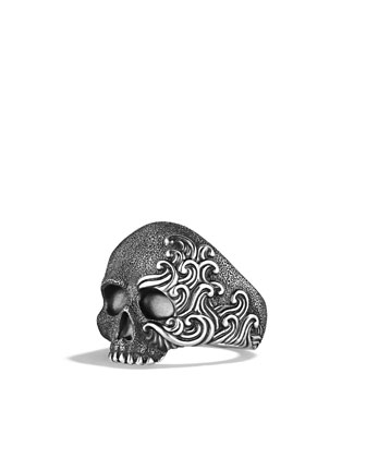 Waves Skull Ring