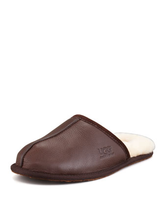 Scuff Mule Slipper, Brown