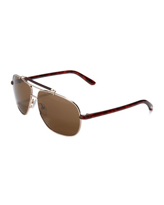 Adrian Metal Aviator Sunglasses