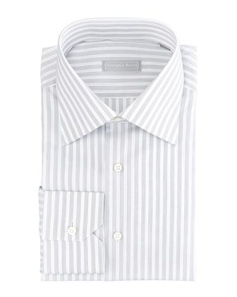 Thick-Stripe Dress Shirt