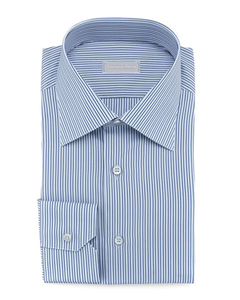 Micro-Striped Dress Shirt, Blue