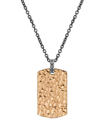 Hammered Tag Necklace