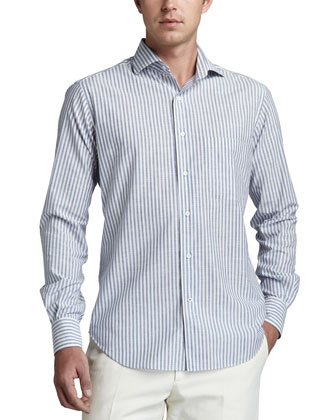 Alain Striped Sport Shirt