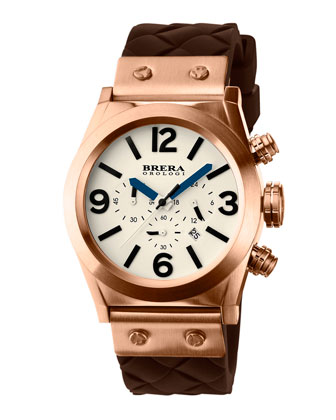 Eterno Piccolo Woven-Strap Watch, Rose Gold