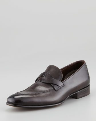 Adney Twist Loafer, Black