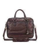 James Computer Bag, Dark Brown