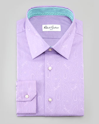 Bruce Paisley Dress Shirt, Lavender