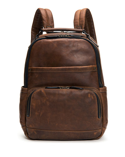 Logan Men's Leather Backpack