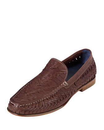 Air Tremont Woven Leather Loafer, Brown