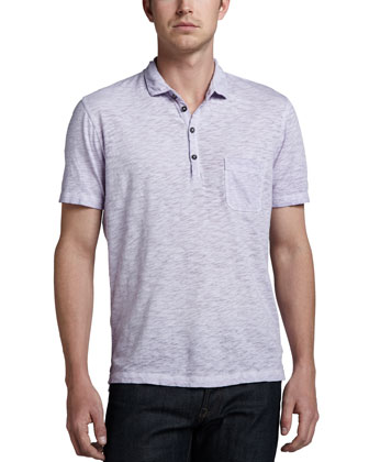 Short-Sleeve Slub Polo