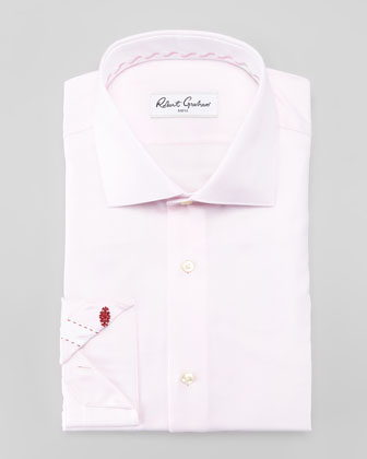 Lambert Herringbone Dress Shirt, Pink