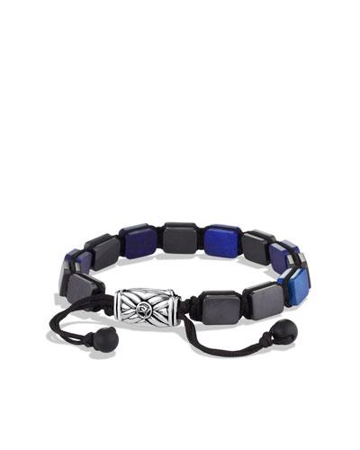 Spiritual Beads Five-Station Tile Bracelet with Lapis Lazuli