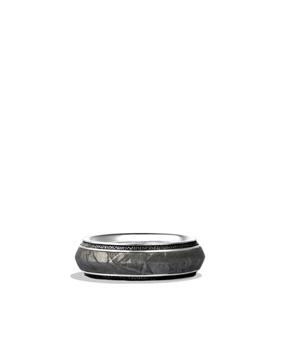 Knife-Edge Band Ring with Meteorite