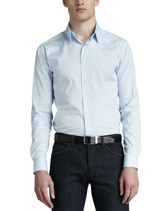Sylvain Sport Shirt, Light Blue
