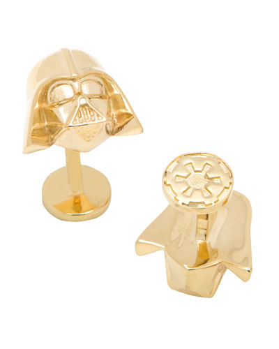 Darth Vader 14k Gold Star Wars Cuff Links