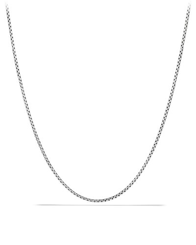 Men's Small Sterling Silver Box Chain Necklace, 24