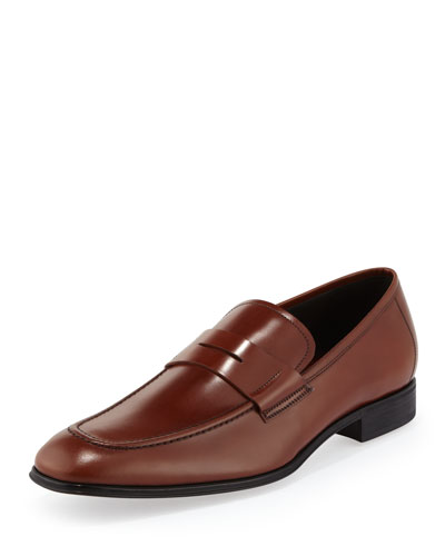 Rocco Leather Penny Loafer, Brown