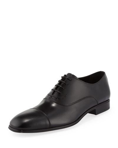 Remigio Cap-Toe Oxford, Black