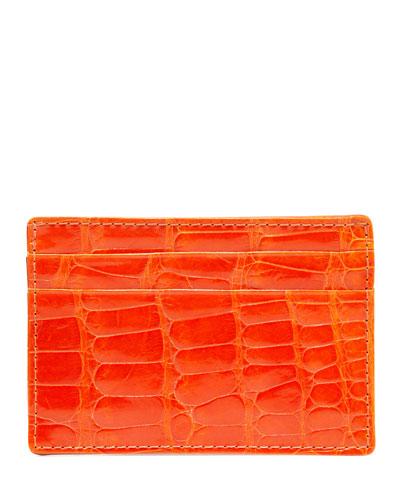 Alligator Card Case, Orange