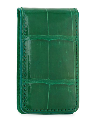 Alligator Money Clip, Green
