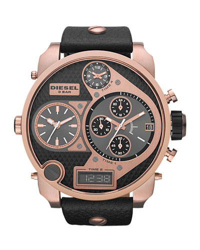 Mr. Daddy Four-in-One Watch, Rose/Black