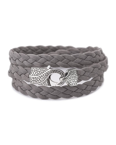 Rayman Multi-Wrap Men's Bracelet, Gray