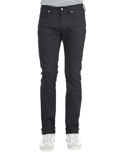 NAKED AND FAMOUS Naked & Famous Denim Skinny Guy Black Power Stretch In Black