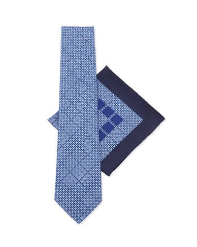 Silk Tie & Pocket Square Set, Blue