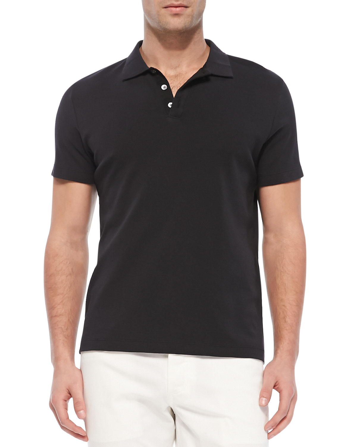 Boyd. Census Short-Sleeve Polo, Black