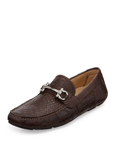 Crocodile Gancini Driver, Brown