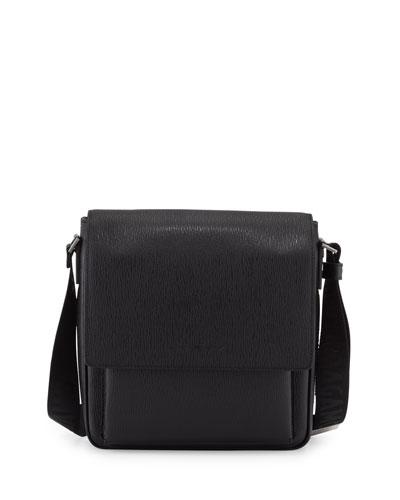Revival Leather Men's Messenger Bag, Black
