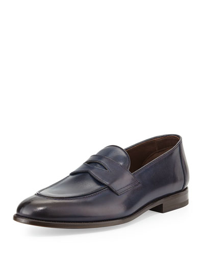 Hugh Leather Penny Loafer