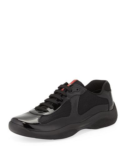 Punta Ala Patent-Leather Sneaker