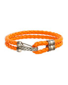 Classic Chain Men's Hook-Station Bracelet, Orange