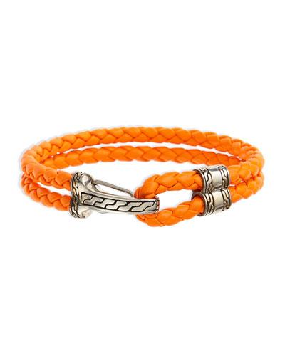 Classic Chain Men's Hook-Station Bracelet, Orange