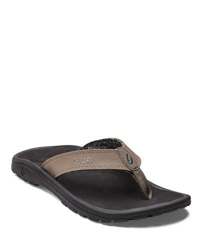 ʻOhana Men's Thong Sandal, Blue/Black