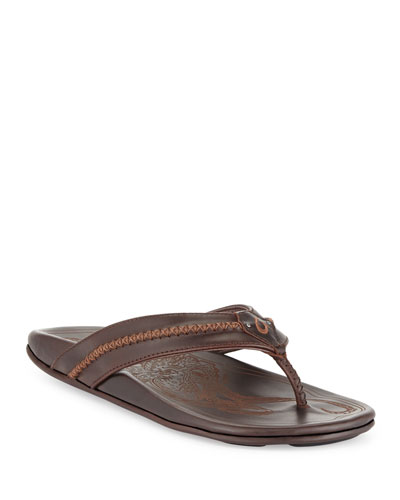 Mea Ola Men's Thong Sandal, Dark Java