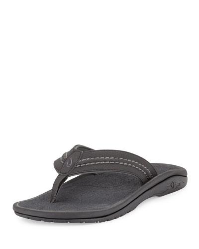 Hokua Men's Thong Sandal, Black/Gray